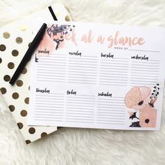 Now for sale! This printable weekly planner with some pretty cute flower detail. There's also a little freebie waiting for you in the…