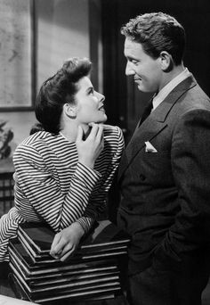 Katharine Hepburn and Spencer Tracy | http://aol.it/UX781r via @stylelist