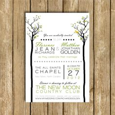 Twin Trees - A Printable Wedding Invitation Suite