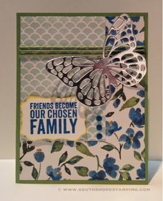Card using Painted Petals and Painted Blooms from the Stampin' Up! 2015 spring Occasions mini catalog by Emily Mark SU demo Greenfield Park, Quebec www.southshorestamping.com