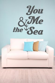 Nautical Anchor Wall Decal Vinyl Sticker Anchor Wall Art Home - Wall decals beach quotes
