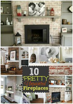 10 unpainted fireplace ideas