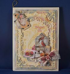 card with Spellbinders Nestabilities Card Creator Elegant Labels Four 5x7