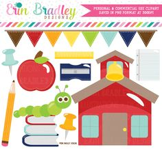Back to School Clipart – Erin Bradley/Ink Obsession Designs