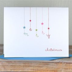 Personalized Christmas Cards - Falling Stars on Etsy, Personalised Christmas Cards, Homemade Christmas Cards, Holiday Greeting Cards, Christmas Greetings, Homemade Cards, Christmas Diy, Holiday Wishes, Christmas Stars, Xmas Cards Handmade
