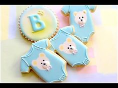 Baby onesie cookies. Baby shower. - YouTube