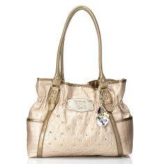 Kathy Van Zeeland Double Handle Quilt Stitched Stud Detailed Shopper Handbag 43fbcfd1d6423