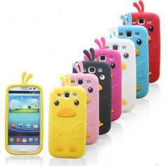 Cute 3D Cartoon Chicken Silicone Case for Samsung Galaxy S3 SIII S III i9300
