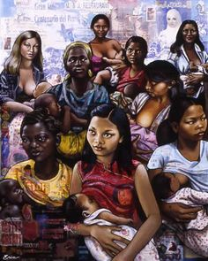 Group of women breastfeeding art Breastfeeding Art, Breastfeeding Support, Perfect Couple Pictures, Raw Photography, African American Artwork, Black Women Art, Black Art, Mothers Love, 10 Years