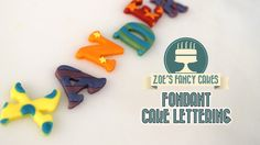 How to make patterned / decorative fondant cake letters. In this cake decorating tutorial I show you how to use alphabet cutters to make some fancy alphabet . Fondant Cake Toppers, Fondant Figures, Fondant Cakes, Cake Pop Tutorial, Fondant Tutorial, Cake Decorating Tutorials, Cookie Decorating, Animal Cake Pops, Fondant Letters