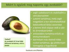 Életmód cikkek : Avokádó Zöldség és gyümölcsök hatásai Vitamins, Spices, Food And Drink, Health Fitness, Healthy Eating, Nutrition, Herbs, Fruit, Medical