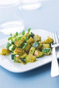 #Courgettes de Calabre cuisinées à l'huile d'olive avec ail et persil #Picard