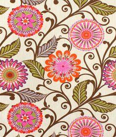 HGTV Urban Blossoms Berry Fabric - $23.95 | onlinefabricstore.net