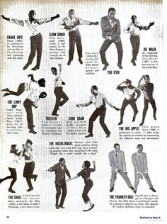 Various 1950s Radness | 15 Infographics That Will Make You A Great Dancer