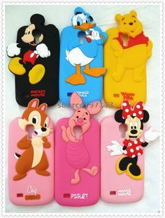 Cute Disney 3D Cartoon Silicone Soft Case Cover For Samsung Galaxy S4 Mini i9190 #UnbrandedGeneric