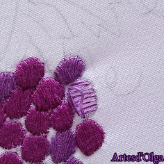 hand embroidery designs and patterns Hand Embroidery Patterns Flowers, Hand Embroidery Videos, Embroidery Stitches Tutorial, Embroidery Flowers Pattern, Hand Embroidery Designs, Embroidery Techniques, Knitting Stitches, Creative Embroidery, Simple Embroidery