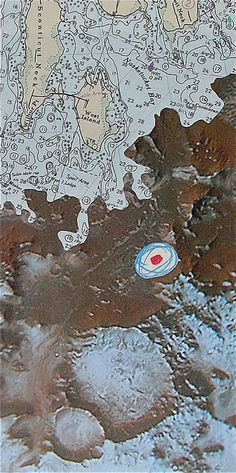 Map: you are here but look closely, there appear to be craters in the seafloor.  I wonder how many more are out there... This is off the coast at Fairhaven Massachusetts
