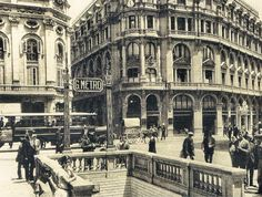 THE DARK HOUSE: Barcelona antigua: El metro en Barcelona 1920