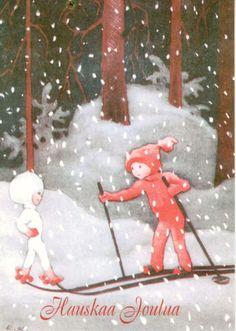 Rudolf Koivu Vintage Christmas Cards, Pink Christmas, Christmas Photos, Christmas Holidays, Antique Christmas, Xmas, Retro Images, Vintage Images, I Love Winter