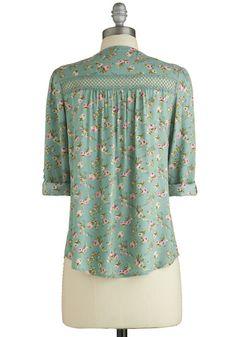 Treat the Parents Top in Floral | Mod Retro Vintage Short Sleeve Shirts | ModCloth.com