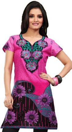 28% Off was $39.99, now is $28.99! Indian Tunic Top Womens Kurti Cotton Embroidered Blouse India Clothes