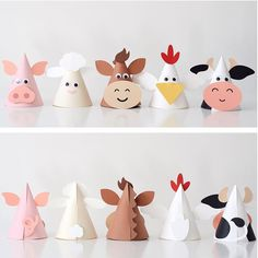 All designs in the @silhouette.inc store are 50% off today! Head over and grab these animal party hats from our farm party and more. The… Farm Animal Crafts, Farm Animal Party, Farm Animal Birthday, Animal Crafts For Kids, Farm Birthday, Farm Party, Toddler Crafts, Preschool Crafts, Diy For Kids