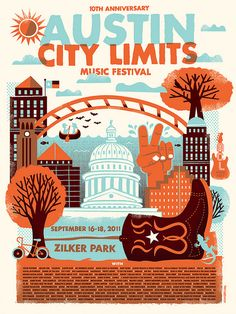 2011 Austin City Limits illustration by Tad Carpenter