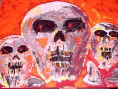 'Neon Skulls' von mw-art-marion-waschk bei artflakes.com als Poster oder Kunstdruck $16.63