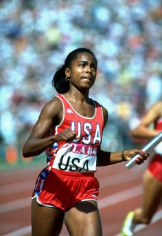 Evelyn Ashford - Athletics -Los Angeles Olympics 1984 - Womens 100m & 4x100m, Seoul 1988 - Womens 4x100m, Barcelona 1992 - Womens 4x100m