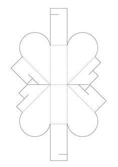 Molde para hacer una caja con forma de corazón (2)