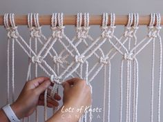 DIY Macrame Tutorial - Starting Your Work! Overlapping Square Knot Pattern - You. - DIY Macrame Tutorial – Starting Your Work! Overlapping Square Knot Pattern – You… – – - Macrame Design, Macrame Art, Macrame Projects, Macrame Wall Hanging Patterns, Macrame Plant Hangers, Diy Wall Hanging, Macrame Wall Hangings, Wall Plant Hanger, Diy Wall Decor