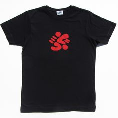 Splodge on men's black t-shirt