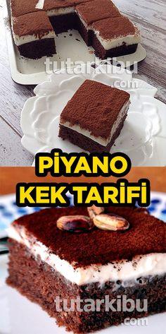 Piyano Kek Tarifi Piano Cakes, Pasta Cake, Best Butter, Vegan Cake, Homemade Beauty Products, Easy Cake Recipes, Chocolate Cake, Brunch, Food And Drink