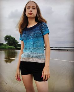 Ravelry: Mariposa pattern by Agnieszka Reduch Ravelry, Winter Fashion, Short Sleeve Dresses, Sweater Patterns, Pullover, Crochet, Sweaters, Cotton, Collection