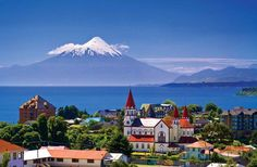 Almost kms South From Chiles capital city Santiago Puerto Varas is founded. Beautiful City at the Llanquihues Lake Shore. Beautiful World, Beautiful Places, Beautiful Pictures, Romantic Places, Places To Travel, Places To Go, Chili, Bolivia Travel, South America Travel