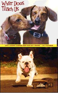 What dogs teach us - great calendar and helps out our furry family members.  :-)   (animal rescue site)