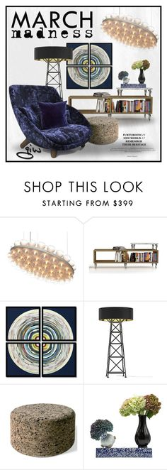 """""""march madness..."""" by ian-giw ❤ liked on Polyvore featuring interior, interiors, interior design, home, home decor, interior decorating, Moooi and Amanti Art"""