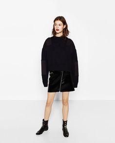 Image 1 of MINI SKIRT WITH ZIPS from Zara