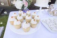 Carrot topped cupcakes from a Bunny 1st Birthday Party on Kara's Party Ideas | KarasPartyIdeas.com (10)
