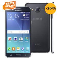 """Samsung Galaxy J7 Duos Preto com Dual chip Tela 5.5"""" 4G Câmera 13MP Android 5.1 e Processador Octa Core de 1.5 Ghz << R$ 98910 >>"""