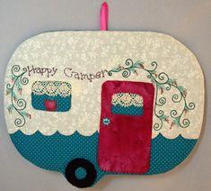 Happy Camper 11 Mug Rug by QuiltinCats on Etsy, $12.00