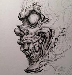 Tattoo Ideas – About Scary Drawings, Badass Drawings, Dark Art Drawings, Pencil Art Drawings, Art Drawings Sketches, Tattoo Sketches, Tattoo Design Drawings, Skull Tattoo Design, Arte Horror