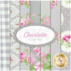 Charlotte 7 FQ Set - Gray Set by Tanya Whelan for Free Spirit Fabrics: Charlotte is a collection by Tanya Whelan for Free Spirit Fabrics. This set contains 7 fat quarters, each measuring approximately 18 Free Spirit Fabrics, Shabby Fabrics, Quilt Kits, French Country Decorating, Baby Furniture, Embellishments, Charlotte, Quilts, Fat Quarters