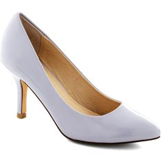 Strut Your Day Right Heel in Lilac (675 ARS) ❤ liked on Polyvore featuring shoes, pumps, bride, wedding, solid, purple, party, minimal, formal and faux leather