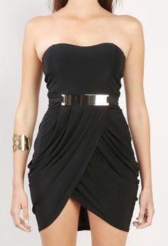 strapless jersey dress