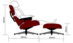 THE EAMES CHAIR AND OTTOMAN - ERGONOMICS AND ANTHROPOMETRICS  sc 1 st  Pinterest & THE EAMES CHAIR AND OTTOMAN - ERGONOMICS AND ANTHROPOMETRICS ...