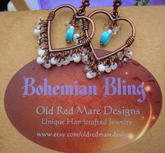 Handcrafted Jewelry Bohemian BlingWhite on by oldredmaredesigns