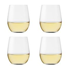 Wine shaped tumbler glasses