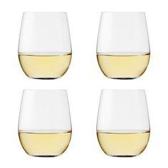 Wine shaped tumbler glasses
