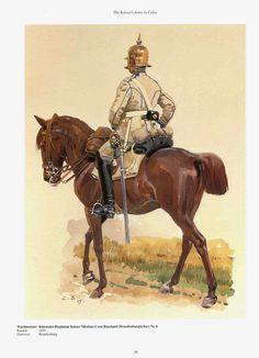 German; 6th (Brandenburgisches) Cuirassier Regt. 'Kaiser Nikolaus I von Russland'. Wachtmeister. Raised 1691, Home Depot Brandenburg. III Army Corps